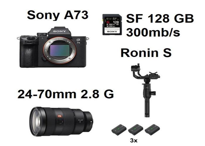Sony A7III A73 Dji Ronins S 24-70mm 2.8 G Lens 24-70 mm Sony A73 - 1
