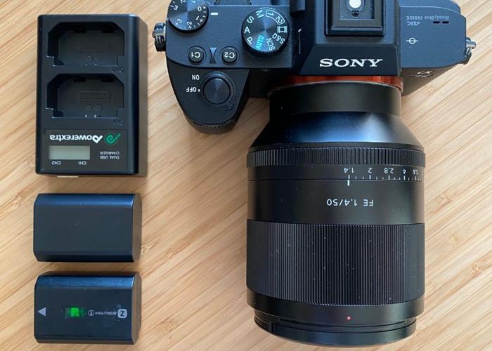 Sony a7iii Camera plus Sony 50 mm Zeiss f1.4 lens Bundle - 1