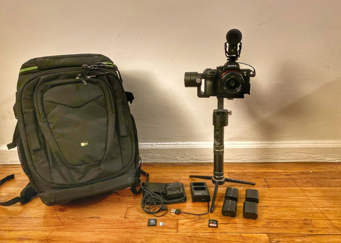 Sony A7iii gimbal kit with audio - Rode VideoMic and Tascam - 1