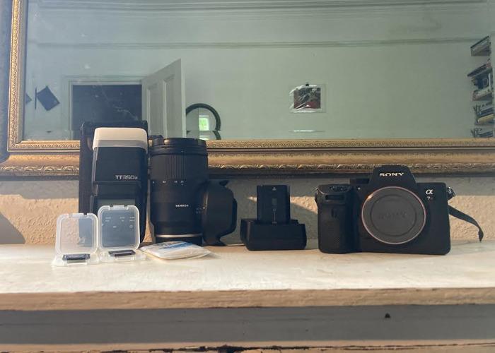 Sony A7RIII +Tamron28-75 (f/2.8)+GodoxTT350(s)+1Battery+2SDs - 1
