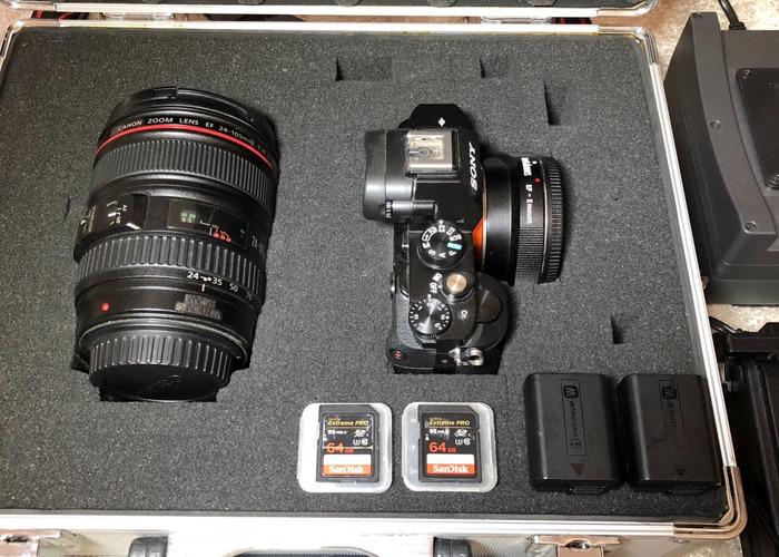 Sony A7s + Canon 24-105 Lens + Long-Life Battery + SD Cards - 2