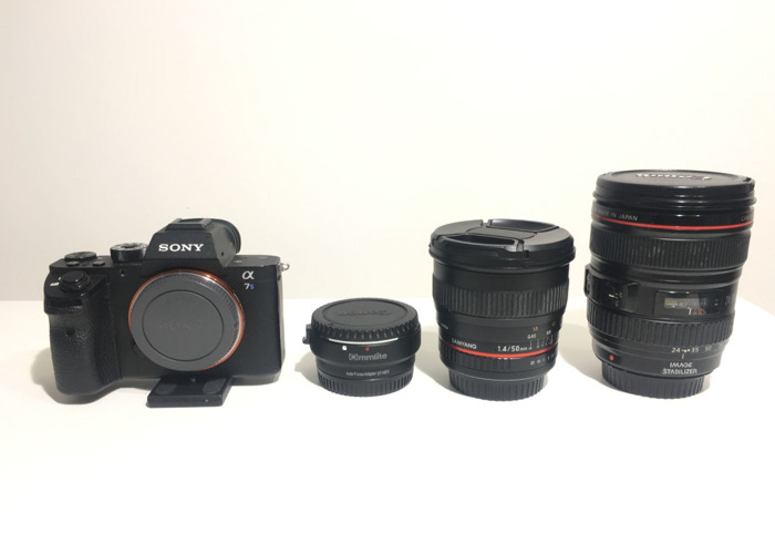 Sony A7s 2 w/ 50mm + 24-105mm + 4 Batts + 4 SD Cards  - 1