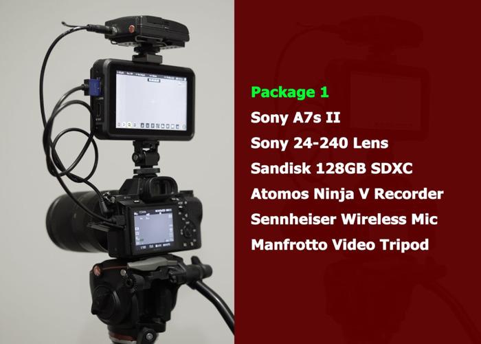 Sony A7s II + Atomos Ninja V + Wireless Mic + Tripod - 1