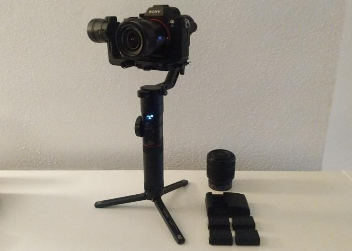 Sony A7S ii + Zhiyun Crane 2 set, 24mm & 28-70mm lens 4 bats - 1