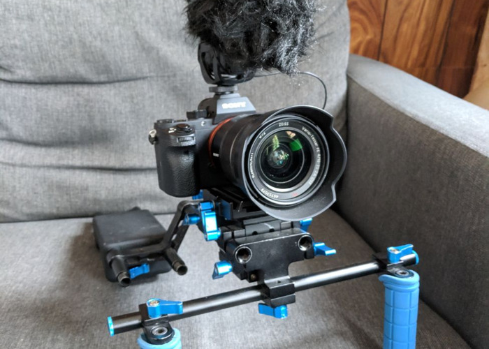 Sony a7s ii Shooting Kit with 16-35mm f4 Zeiss Lens, shoulder rig and Rode Videomic Pro - 1