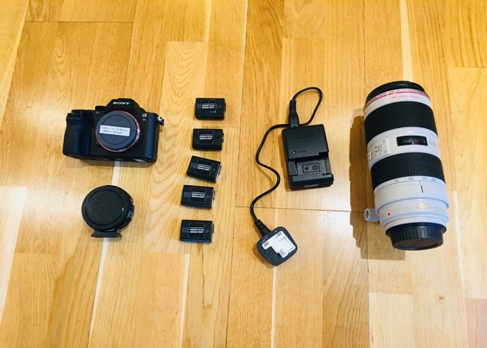 Sony A7s mk ii with Canon 70-200mm Zoom Lens - 1