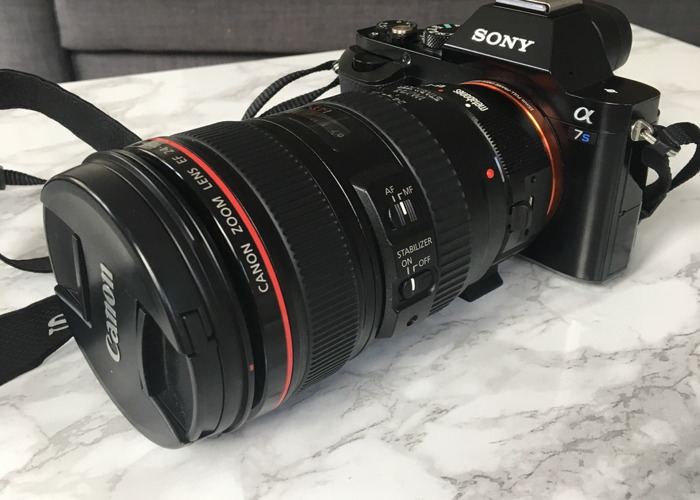 Sony A7s with Canon 24-105 Lens and Rode Mic  - 1