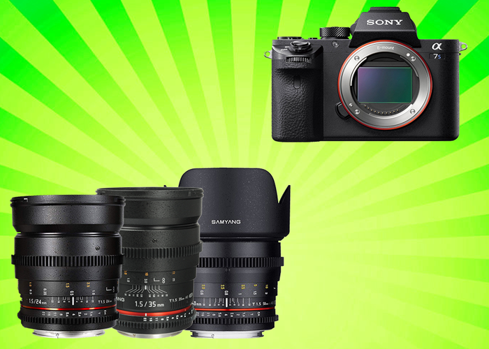 Sony A7sii + 3 x Cine Prime Lens Kit - 1