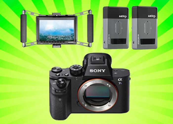 Sony A7Sii + Vaxis ATOM 500 Wireless Video + 7'' Director's Monitor Cage - 1