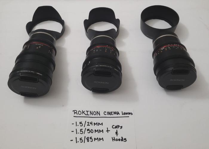 Sony A7S II + DJI RONIN M + DJI MAVIC PRO + 3 ROKINON CINEMA LENSES (1.5-24MM, 50MM, &85MM) + LILLIPUT A7S monitor w/hdmi cord and mounting arm - 2