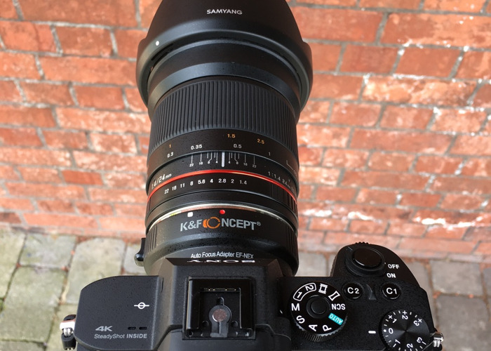 Sony A7Sii Camera with 24mm Lens and E-Mount Adaptor - 2