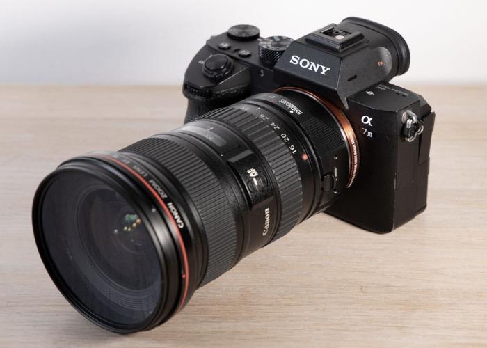 Sony Alpha A7 III Mirrorless Camera Cine 4K+Metabones Canon EF Smart Adapter + Canon 16-35mm f2.8 L II / 24-70mm f2.8 / 70-200mm f2.8 L - 1