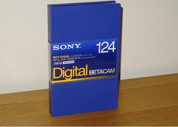 Sony BCT-D124L Large Size 64min Digital Betacam Video Tapes  - 1
