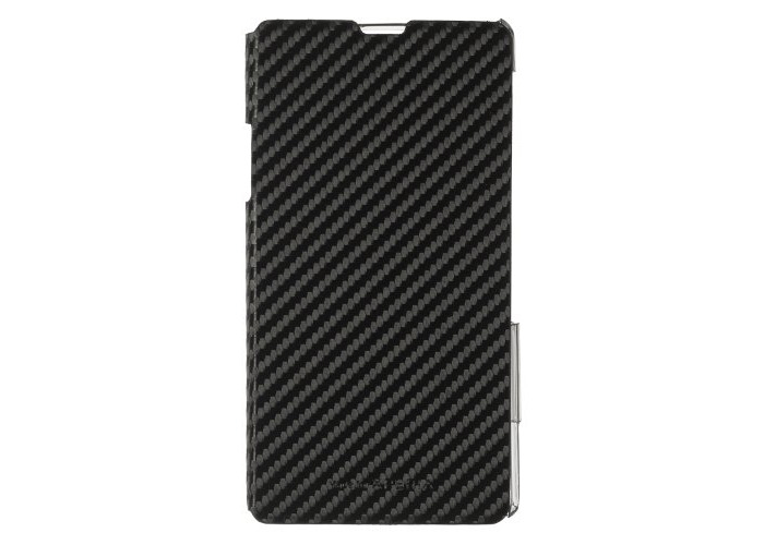 Sony Book Case Cover for Xperia Z1 by Made for Xperia - Carbon Black - 1