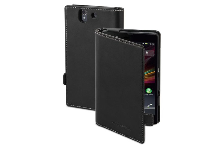 Sony Executive Flip Book Case Cover for Xperia Z by Made for Xperia - Black - 1