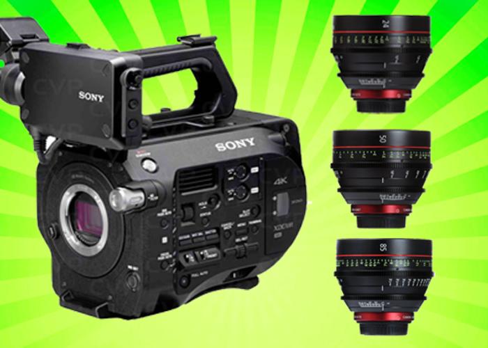 Sony FS7 + Canon CN-E Cine Lens x 3 - 1