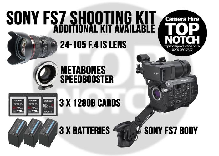 Sony FS7 Camera Kit & 24-105 Lens - 1
