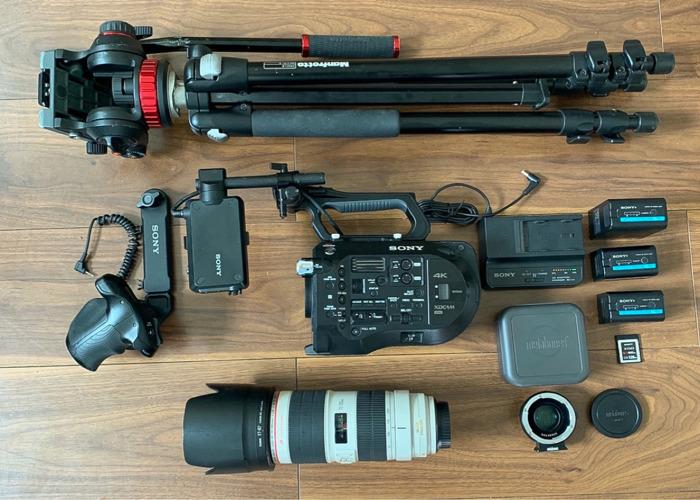 Sony FS7 Camera Kit Canon 70-200mm 2.8L II Tripod +Mic 5 4k - 1
