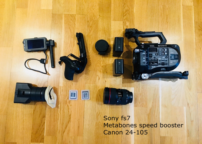 Sony FS7 +Canon zoom lens 24-105 + metabones Speed Booster  (shooting kit )not fs5 - 1