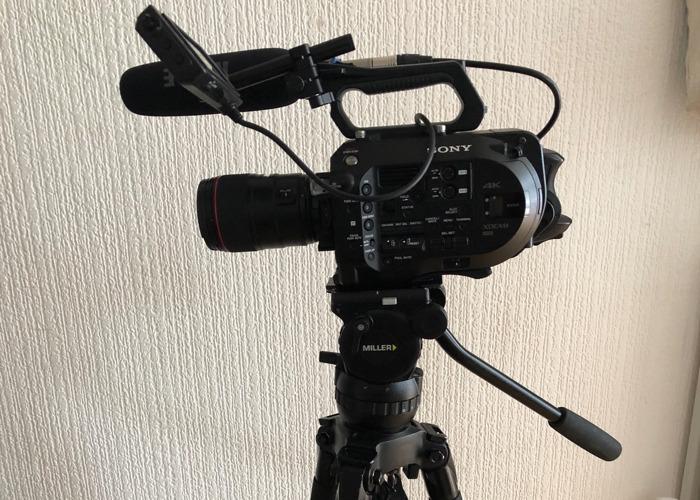 Sony FS7 shooting kit with three lenses + Radio Mic + Miller Tripod + Canon Lenses - 2