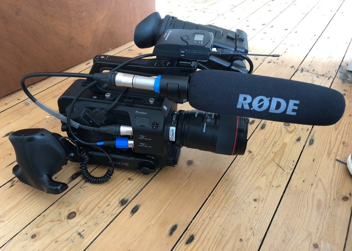 Sony FS7 shooting kit with three lenses + Radio Mic + Miller Tripod + Canon Lenses - 1