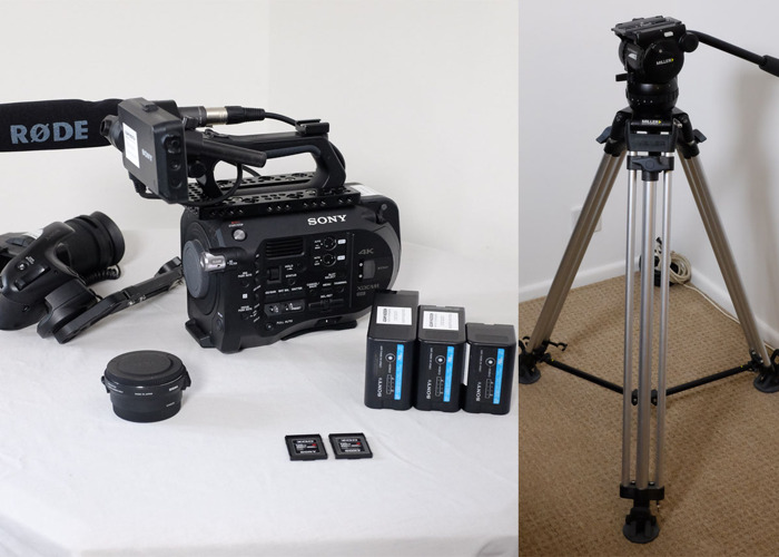 Sony FS7 Kit w/ Canon EF Mount to Sony E Mount Converter (Sigma MC-11) + Miller Tripod + Rode NTG1 + 3 x Batteries + 240GB XQD cards + Petrol Run Bag - 1