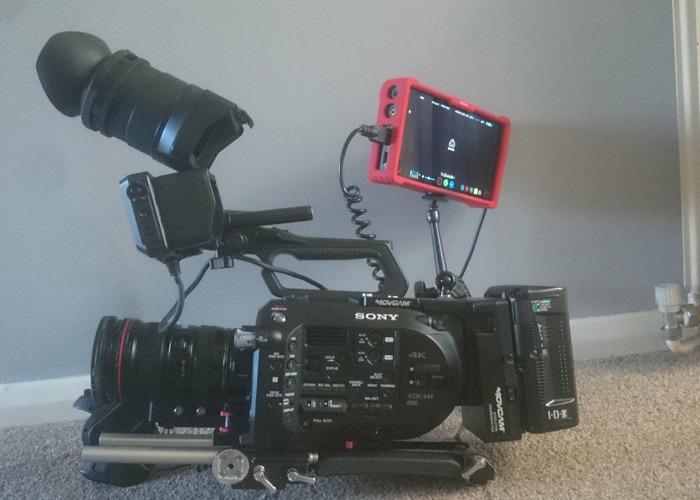 Sony FS7, Miller Tripod, Metabones 16-35mm - 1