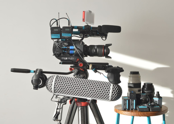 Sony FS7 Mk2 with Tripod, Lenses, Audio Kit - 1