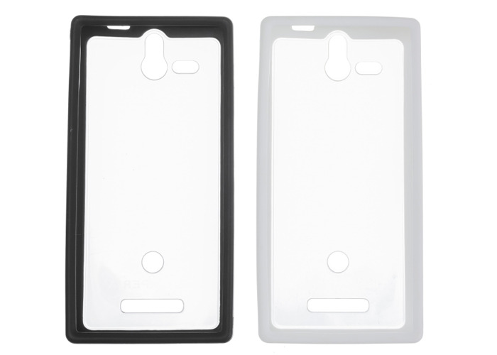 Sony Hard Rubber Clip-On Case Cover for Sony Xperia U by Made for Xperia - Black/White (Twin Pack) - 2