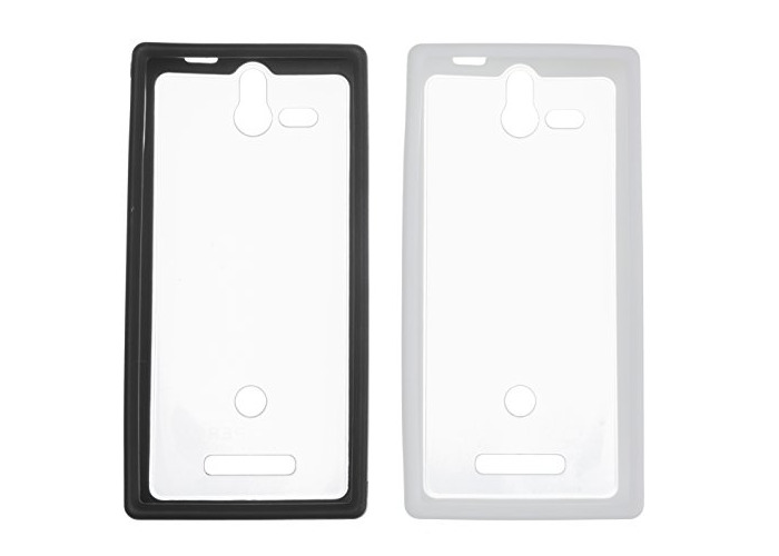 Sony Hard Rubber Clip-On Case Cover for Sony Xperia U by Made for Xperia - Black/White (Twin Pack) - 1