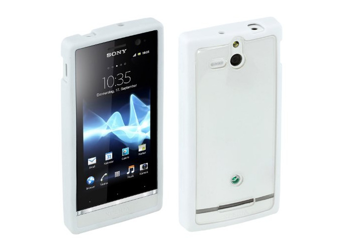 Sony Hard Rubber Clip-On Case Cover for Sony Xperia U by Made for Xperia - White - 1