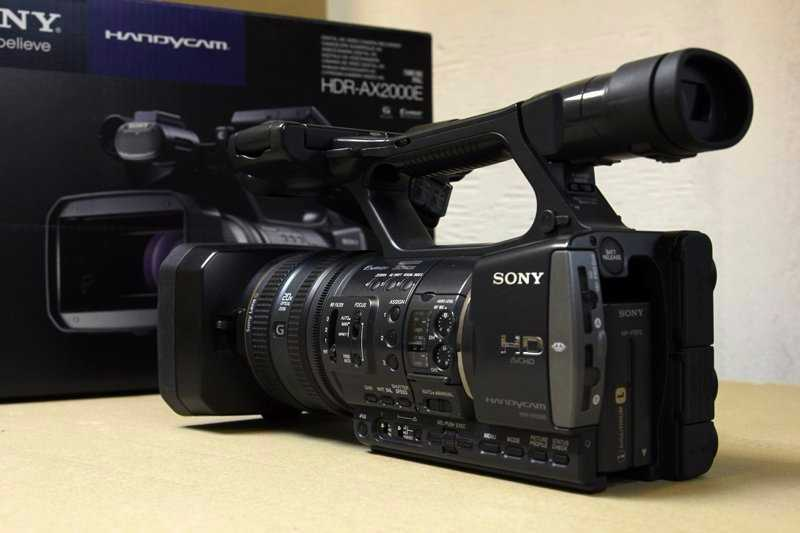 Sony HDR-AX2000E Professional Video Camera - 2
