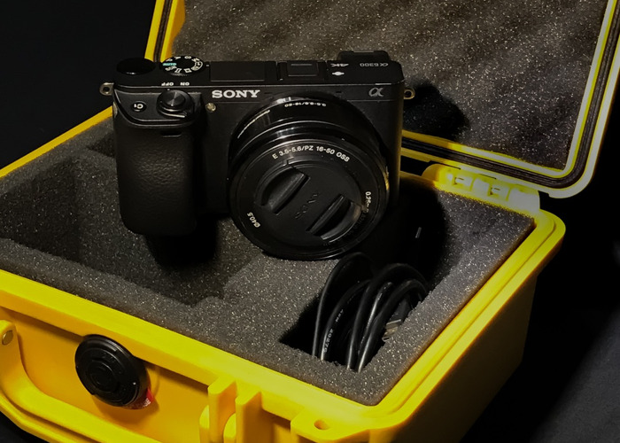 Sony Mirrorless A6300 16-50mm 4K Pelican Case! - 1