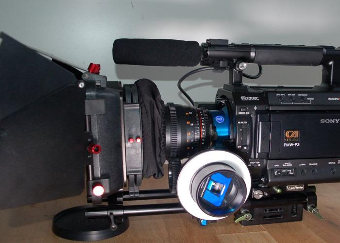 Sony PMW-F3 & accessories: lenses, matte box, fellow focus.. - 1