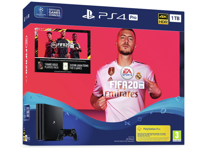 Sony PS4 Pro 1TB Console & FIFA 20 Bundle - 1