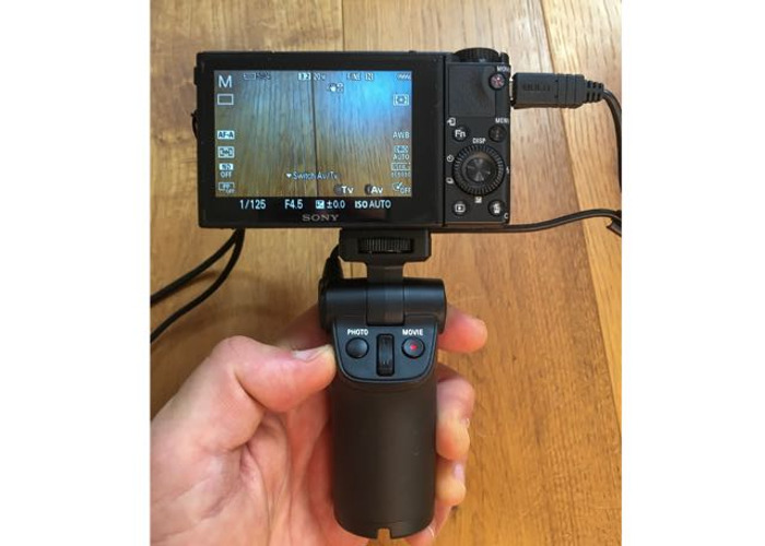 Sony RX100 VA camera plus Sony VCT-SGR1 handgrip holder/tripod (gimbal stabiliser also available) - 2