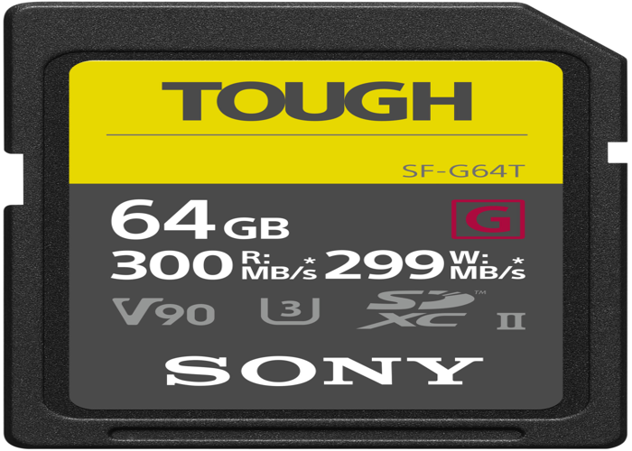 Sony Tough SDXC UHS-II SD Memory Card - 64GB - 1