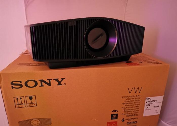Sony VPL-VW760ES Laser 3D/4K Home Cinema Projector - 1