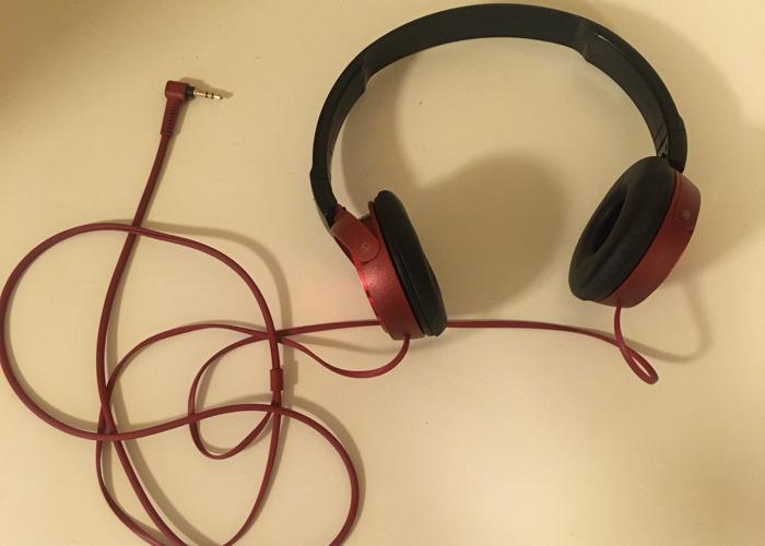 Sony ZX310 On-Ear Headphones - Red - 1