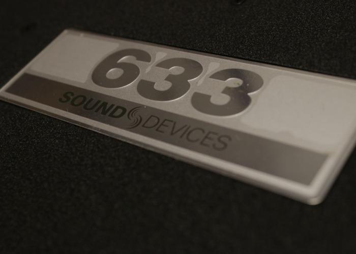 Sound Devices 633 Mixer/Recorder /w Bag, NP1 kit - 2
