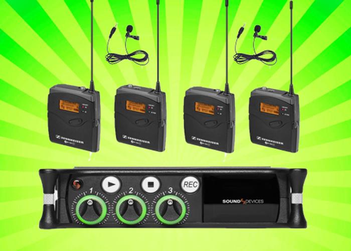 Sound Devices MixPre 3 II Audio Recorder + 2x Sennheiser G3  - 1