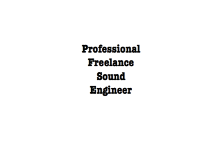 Sound engineer, for Live events, £20.00 Per hour - 1