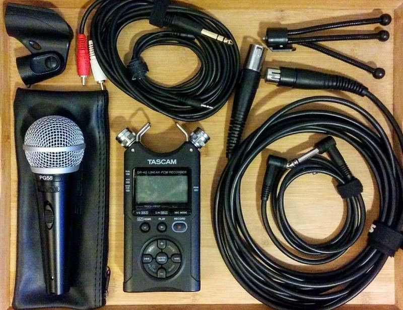 Sound Recording Kit - Tascam and Shure PG58 Microphone - 1