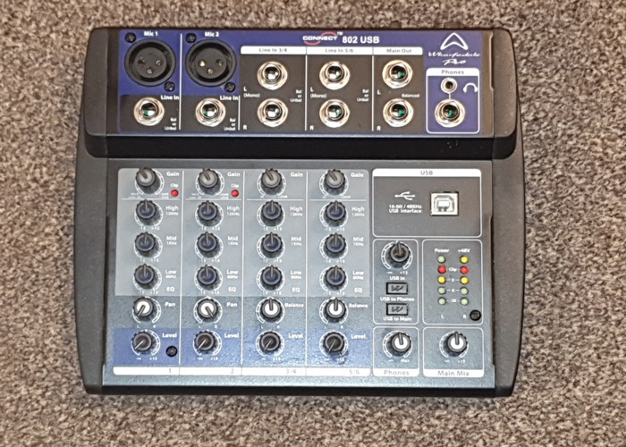 Sound mixer Wharfdale Pro Connect 802 USB audio interface 8 channel - 1