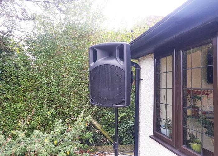 Battery Speaker portable QTX Sound QX15PA PA System Speaker - Black - 1