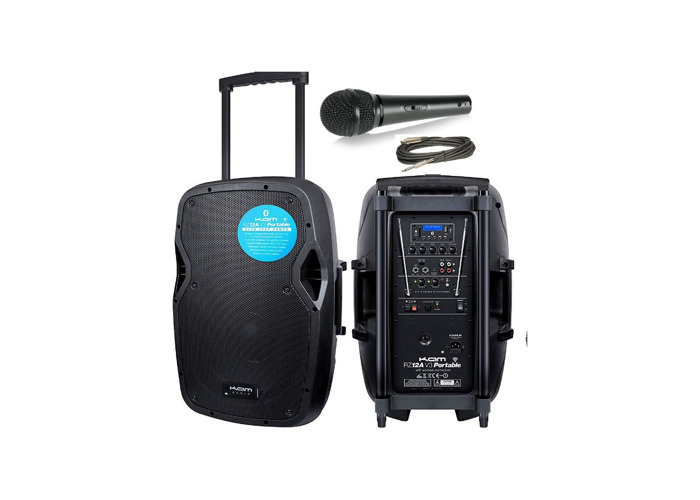 Speaker With Microphone Amplifier Amp PA System Kam Portable Speaker - 1