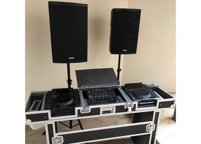 Speakers + DJ Equipment + Deck Stand  - 1