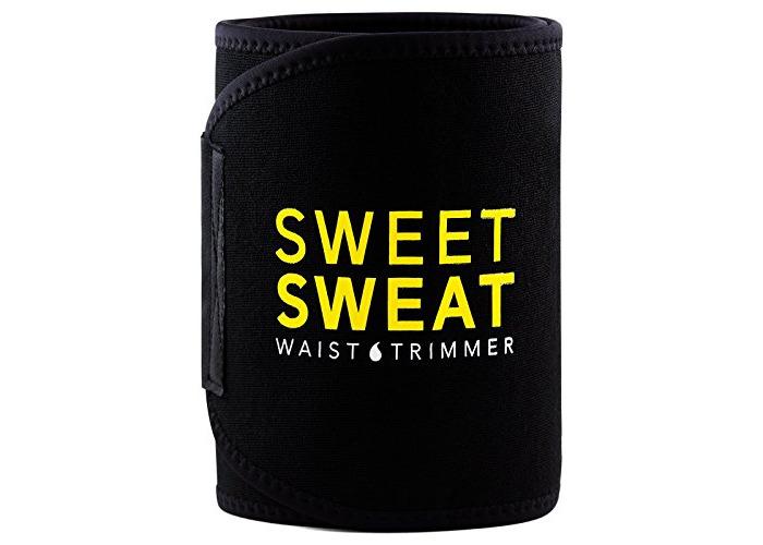 Sports Research Waist Trimmer with Sample of Sweet Sweat Workout Enhancer Gel, Medium - 1