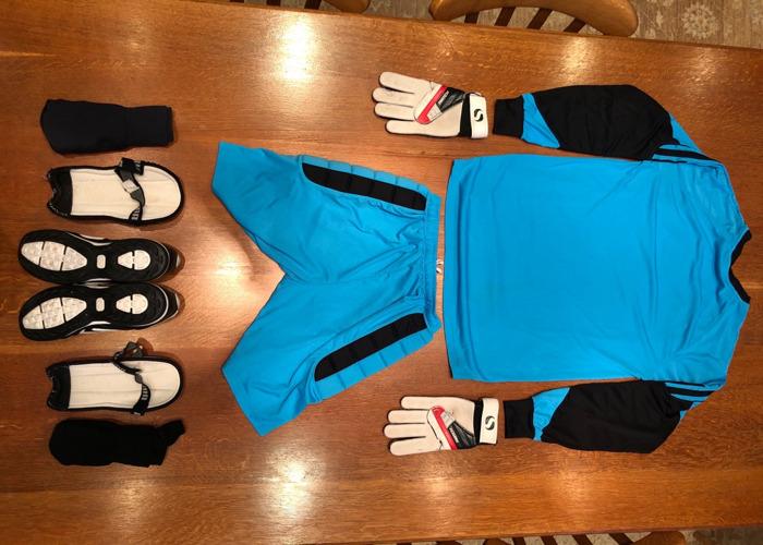 Sportswear: Football (Soccer) Goalkeeper Kit in Blue / Black - 2