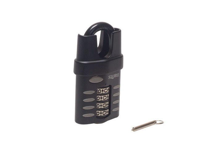Squire CP50CS 50mm Closed Shackle Combination Padlock 4 Wheel Recodable - 1